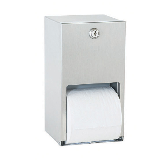 6356 – Porte-serviettes WC  double perpendiculaire