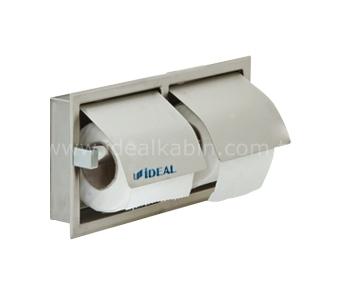 6364 Distributeur de papiers toilettes double (sous enduit)