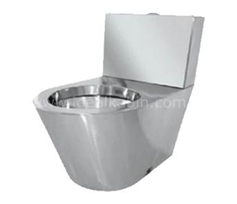 6831 Toilettes + réservoir inoxydables